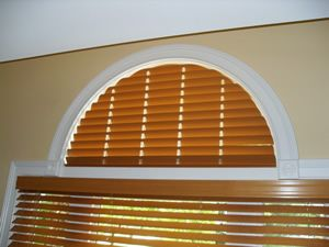 Fixed Faux Wood Arches Arch Window Coverings Arched Window