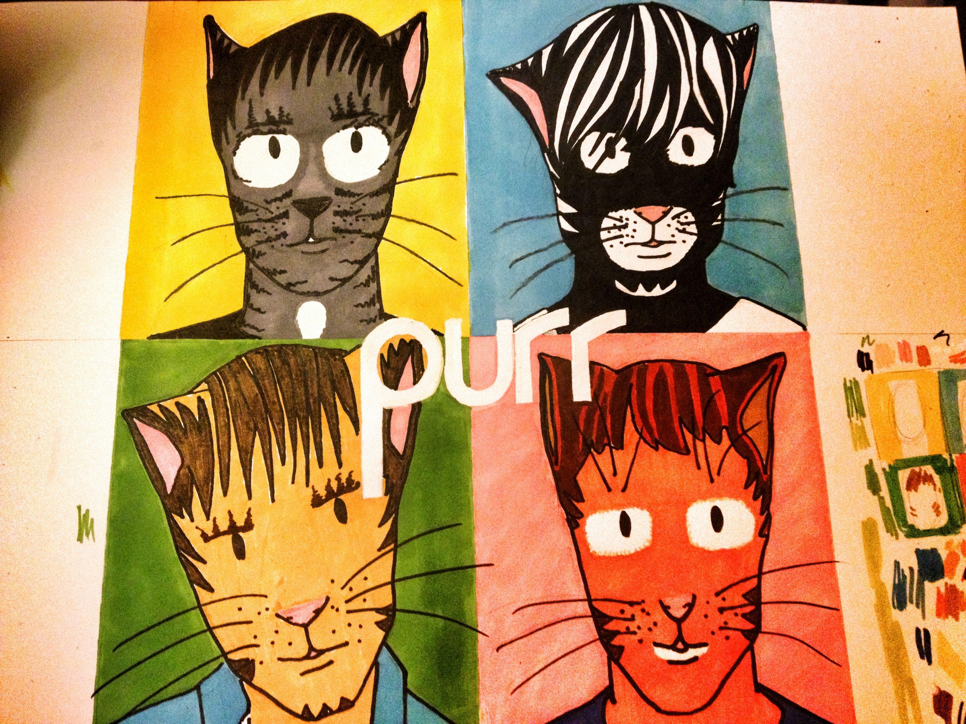 Purr - Blur's cat alter ego! www facebook com