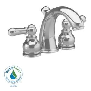 American Standard Hampton 4 In Minispread 2 Handle Mid Arc Bathroom Faucet In Satin Nickel With