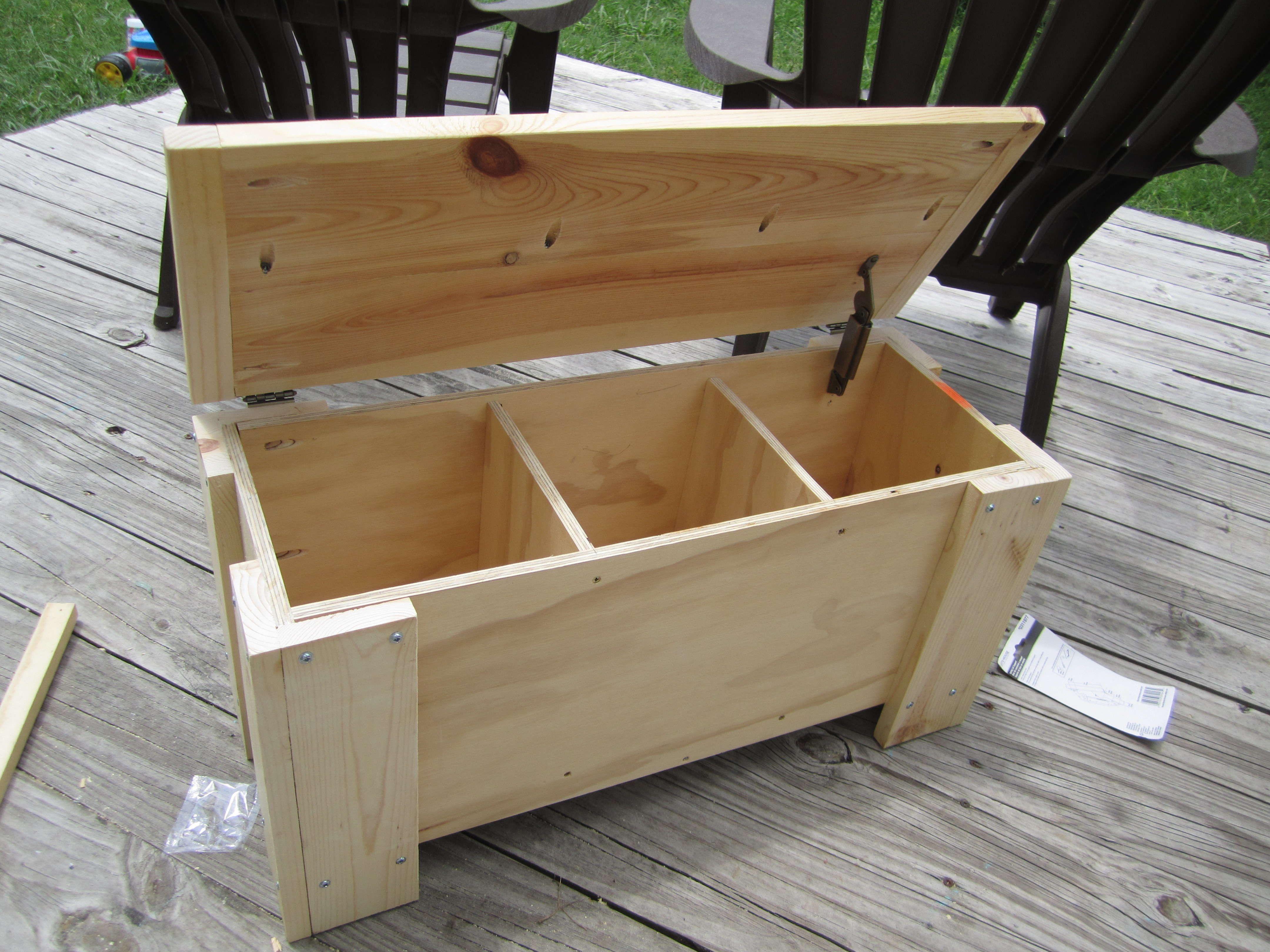 Beau Outdoor Storage Bench Seat Plans