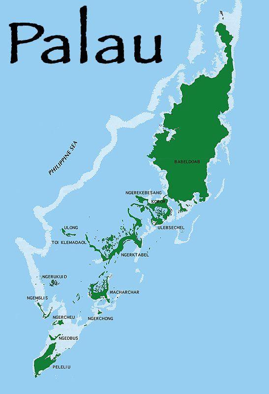 Palau Palau map Travel and Places Pinterest - new world map fiji country