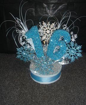 Winter Wonderland Centerpiece or cake topper for Sweet 16