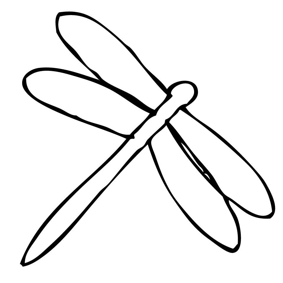 dragonfly coloring pages for kids