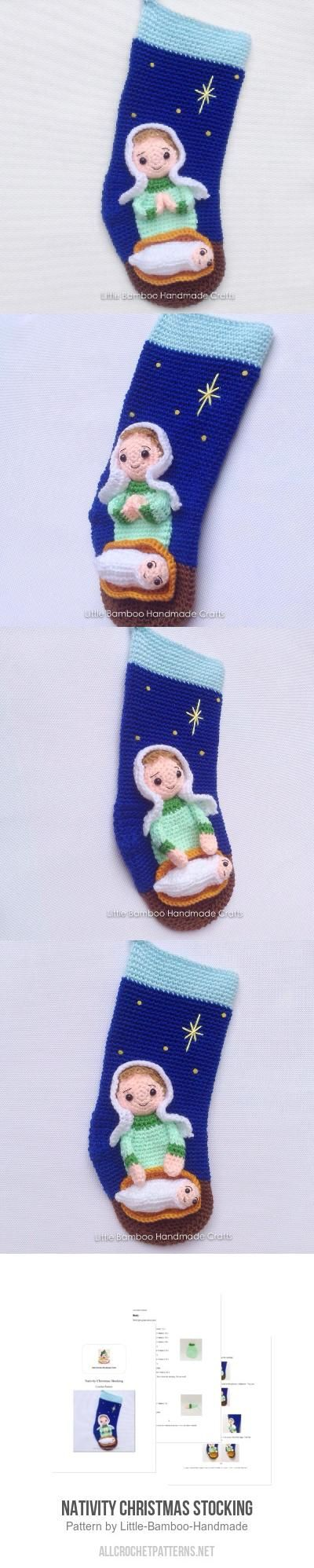 Nativity Christmas Stocking crochet pattern by Little Bamboo ...