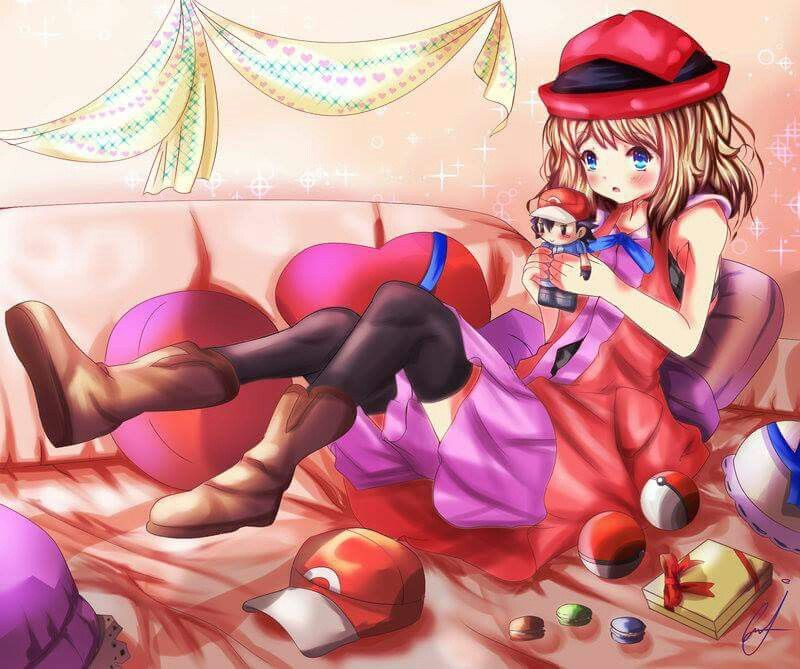 Serena #Amourshipping ^.^ ♡ I give good credit to whoever made this