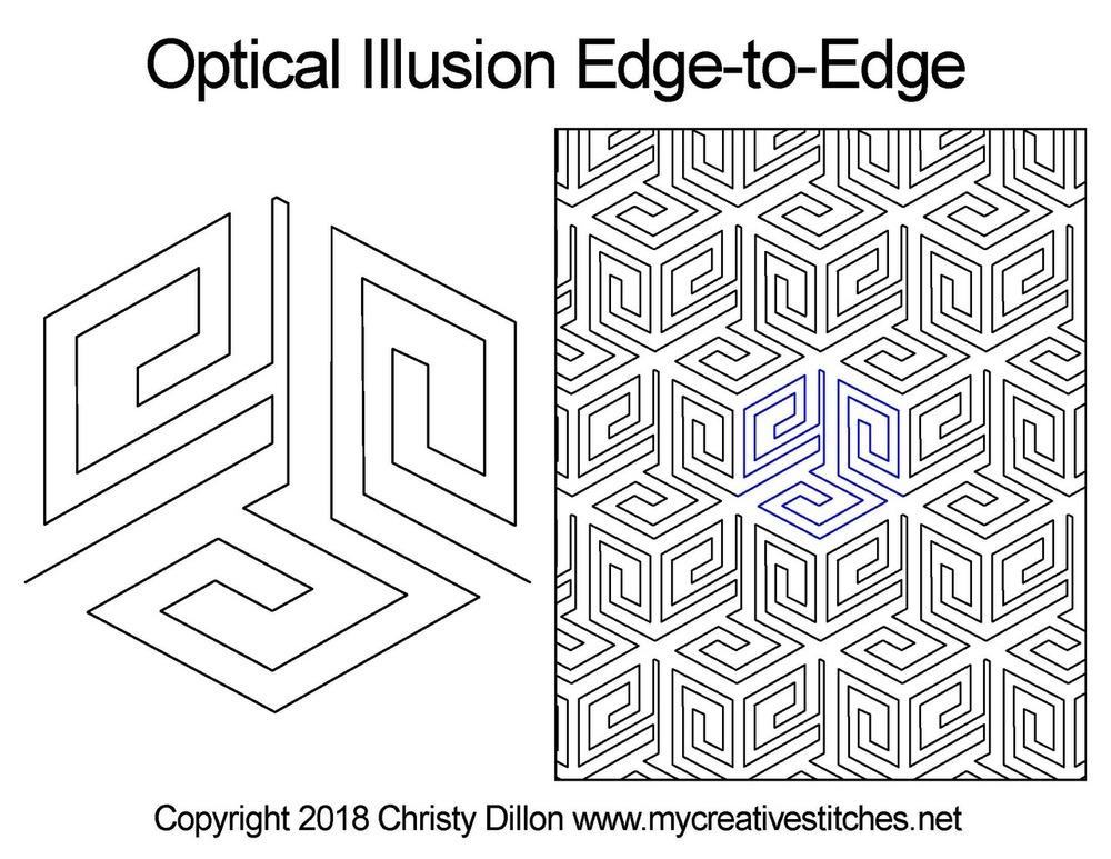 Optical Illusion Edge To Edge In 2020 Optical Illusion Quilts Optical Illusions Illusions