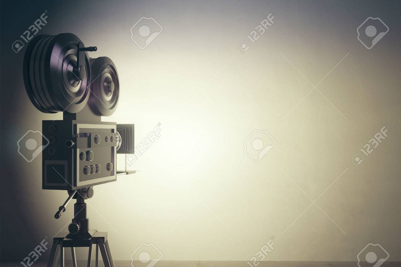 Old Style Movie Camera With White Wall Vintage Photo Effect Windows Movie Maker Lost In Transition Photo