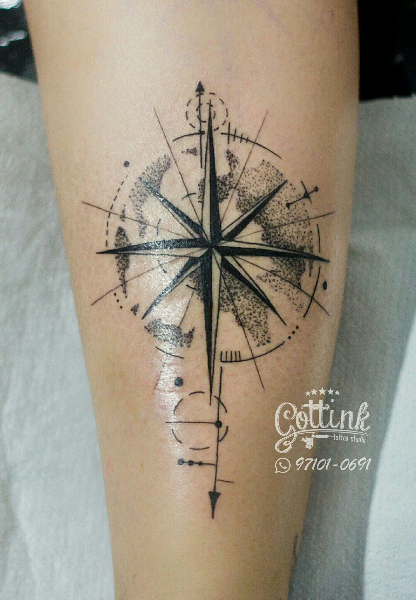 álvaro Tatuajes Tatuajes Brujula Tatuaje Mapamundi Y Tatuaje Maori