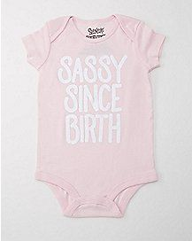 Sassy Since Birth Baby Bodysuit