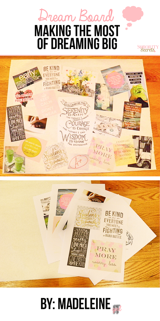 Make The Most Of Dreaming Big This 2014 Madeleine Dream Board Dream Board Diy Vision Board Diy