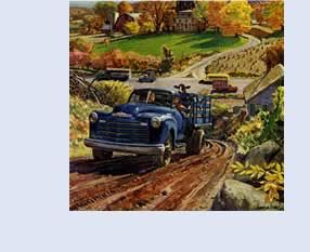 Peter Helck, auto art, the Chevrolet Way