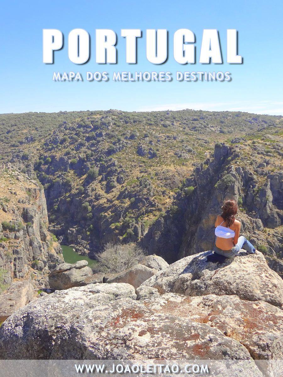 Mapa de Portugal com os melhores destinos para visitar em Portugal. Mapa de Portugal para escolher os melhores lugares para passar férias. Clique aqui http://mundodeviagens.com/melhores-destinos-sonho-viajantes/ e faça agora mesmo Download do nosso E-Book Gratuito com 30 DESTINOS DE SONHO PARA VIAJANTES