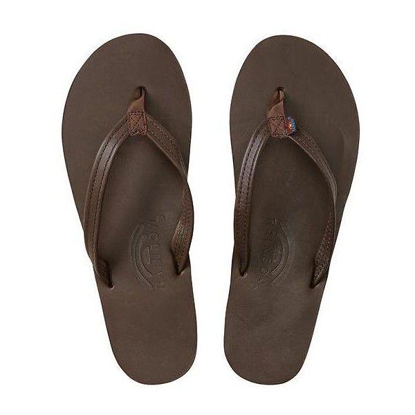 ca0e325de165 Rainbow Sandals Inc Women Classic Leather Flip Flops Size M ( 49) ❤ liked  on Polyvore