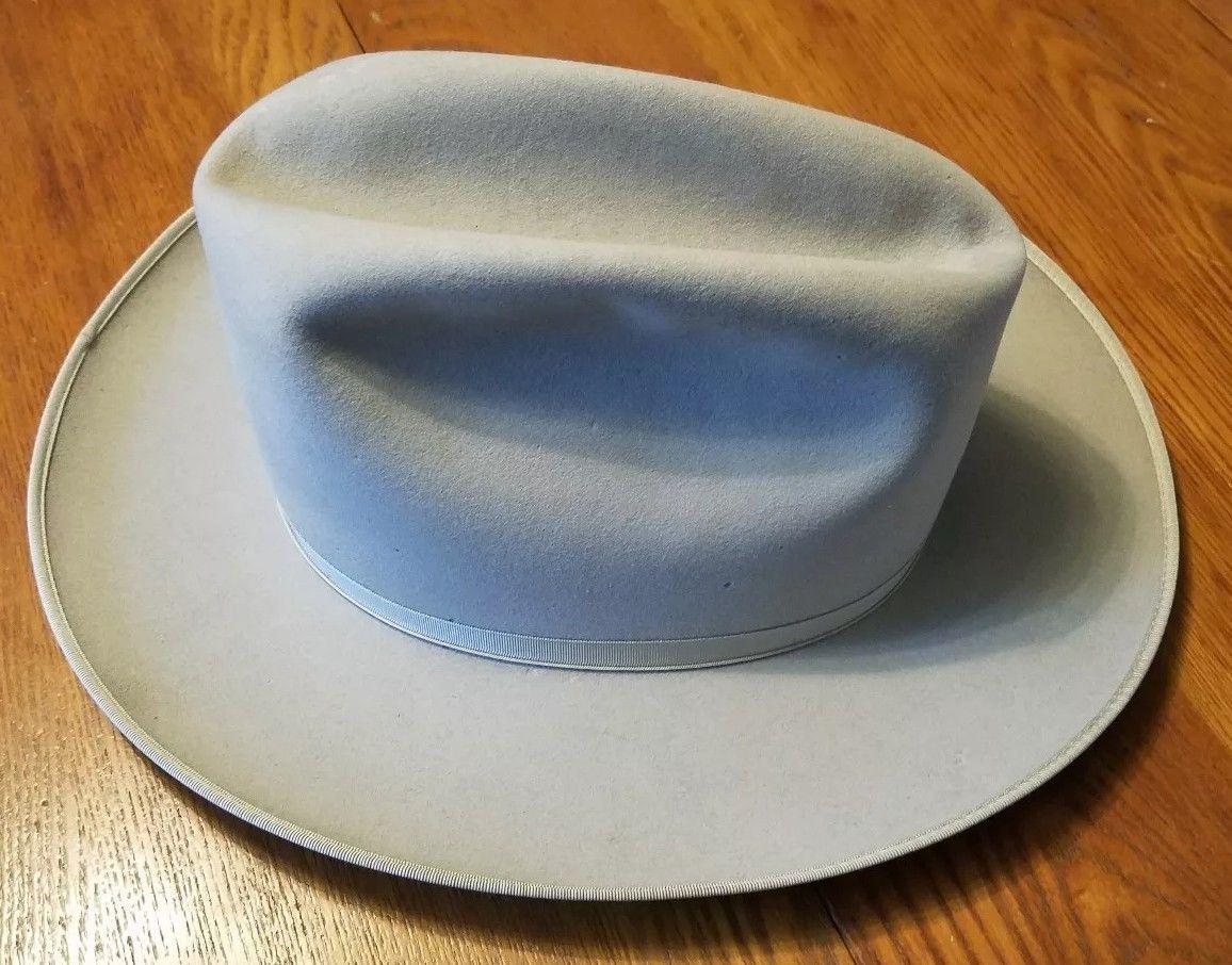 5080e1260cf Vintage Stetson Hat Morris Mens Shop Stockyard Inn Chicago 7 1 8 ...