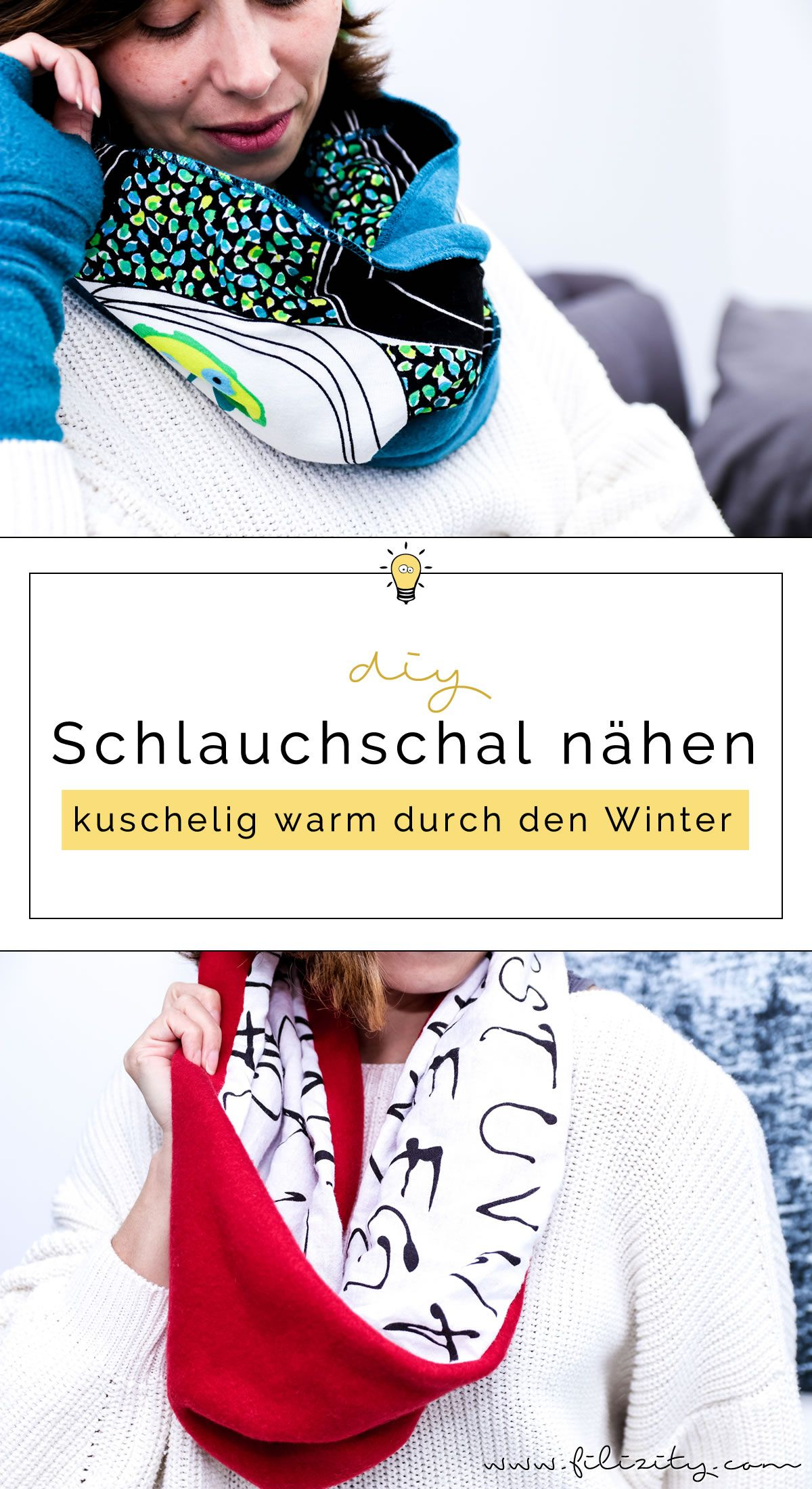 DIY Fashion: Schlauchschal nähen in 10 Minuten | Schlauchschal nähen ...