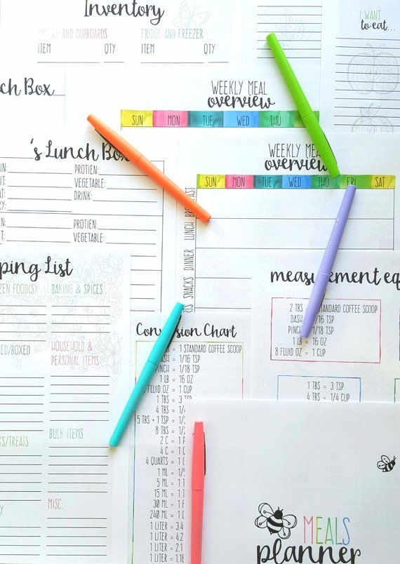 Meals Planner in 2018 Products Pinterest Meal planner, Meals