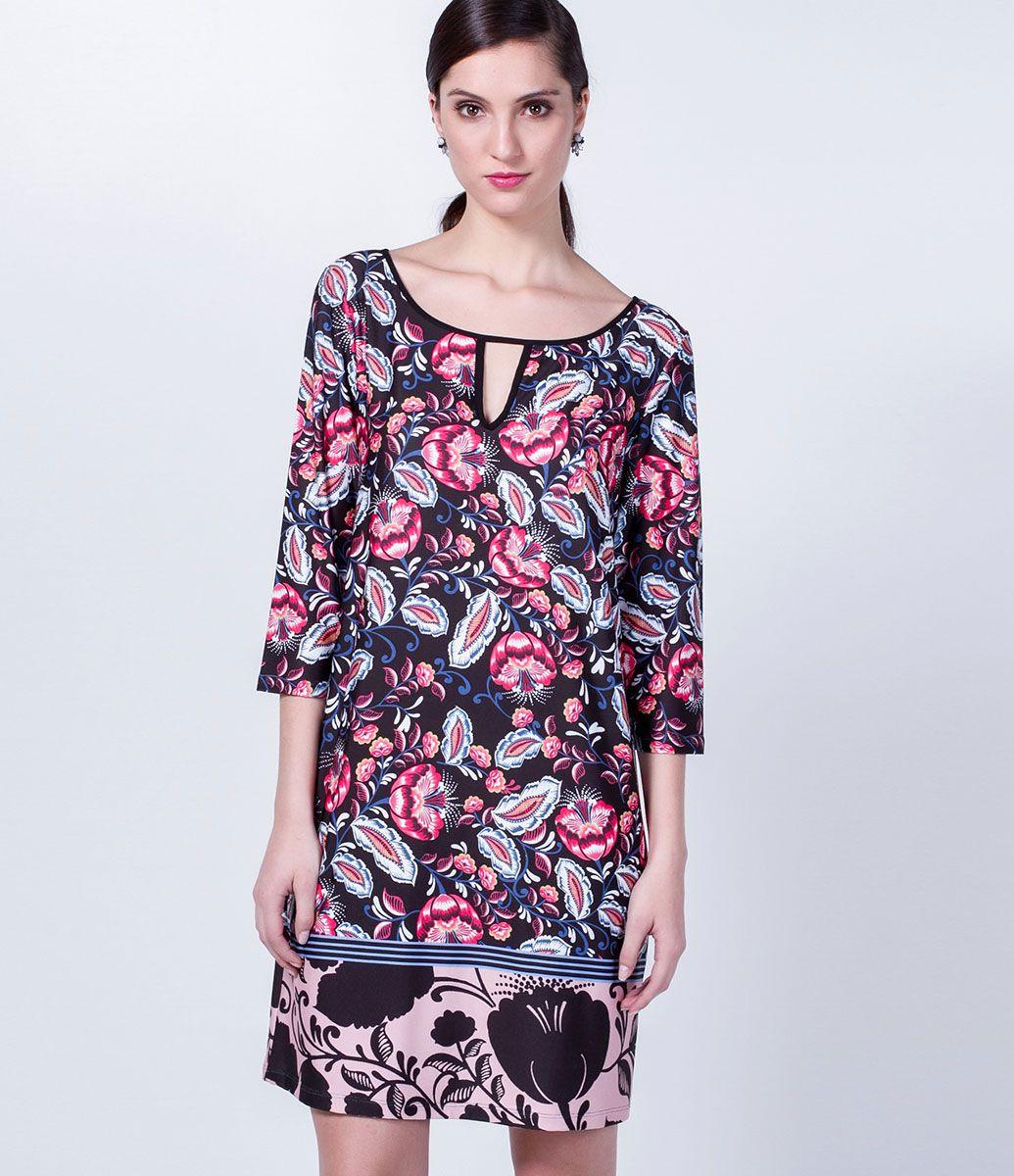 Vestido Floral Manga 3/4 - Lojas Renner | blusas | Pinterest | Blusas