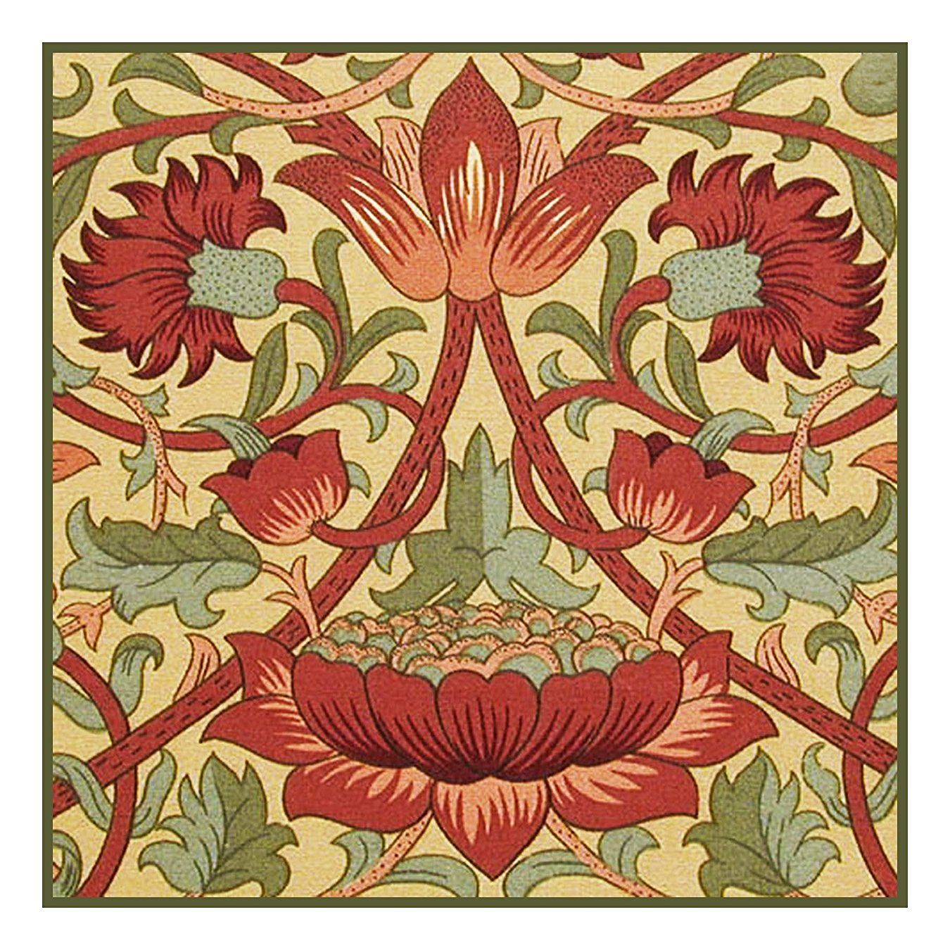 Teppiche Jugendstil Amazon Loden In Earthtones By William Morris Counted Cross
