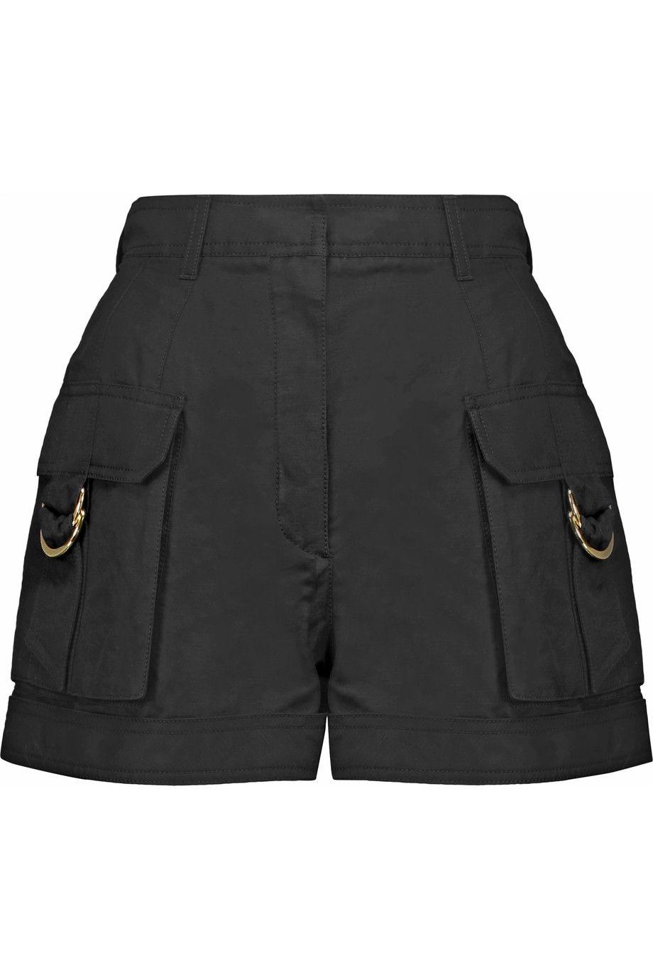 Balmain Linen And Cotton Blend Shorts Modesens Fashion Clothes Women Clothes Clothes Design [ 1380 x 920 Pixel ]