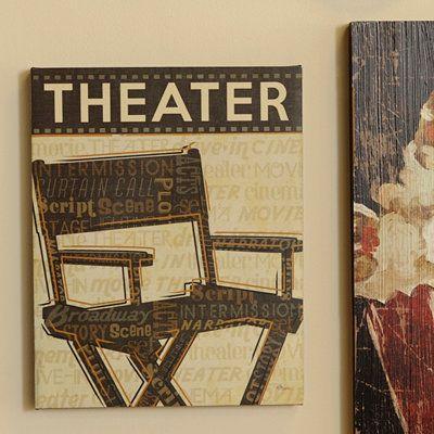 Cinema II Canvas Art Print   Media Room Decor   Pinterest   Media ...