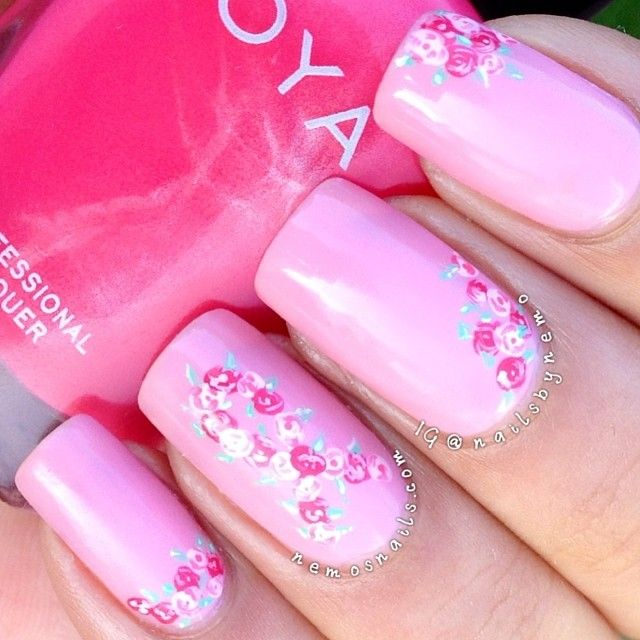 breast cancer awareness by nailsbynemo  #nail #nails #nailart