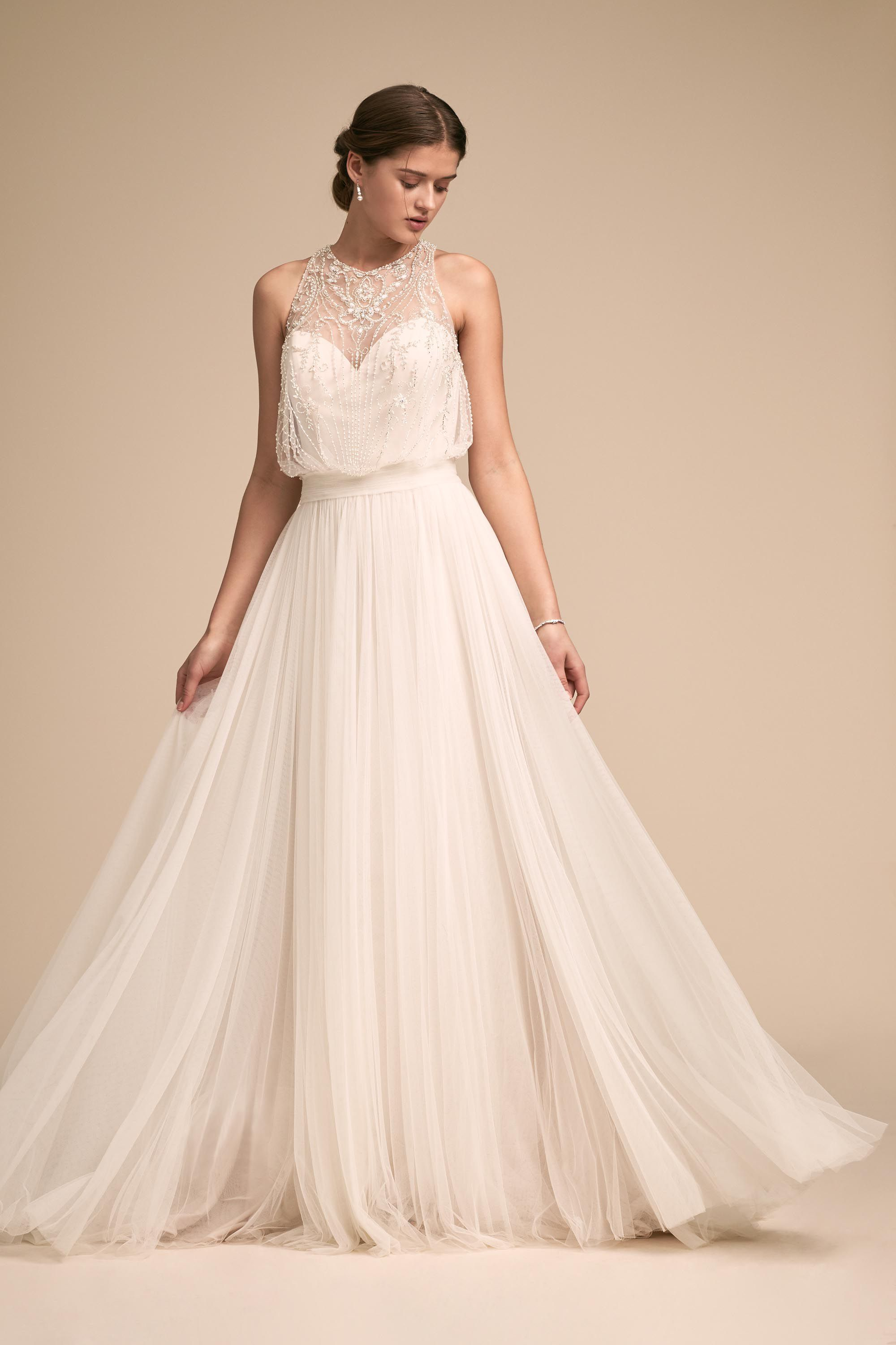 Bhldnus whispers u echoes lovespell gown in ivory in bhldn
