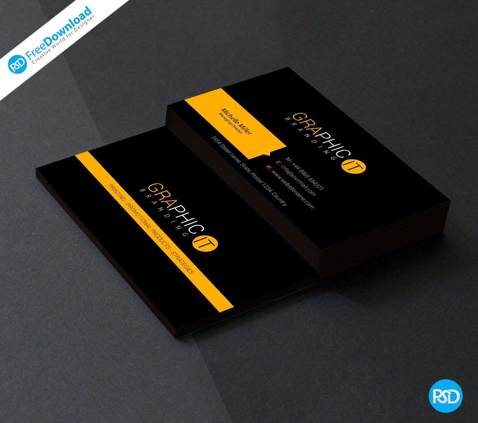 visiting card templates psd free download