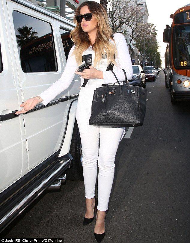 Khloe Kardashian Los Angeles April 9 2014 | Black, Pump and White ...