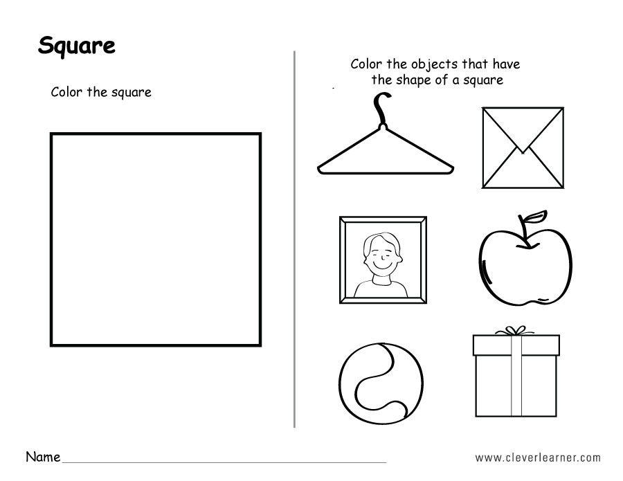 Αποτέλεσμα εικόνας για Preschool Square Shape Worksheets