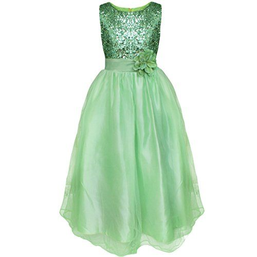 TiaoBug US Girls Sequined Flower Wedding Pageant Prom Ball Party Dress  Set  Include  Dress br Condition  New with tag br Material  Polyester+Satin br  Color  ... e63cc943afb8