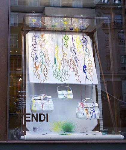 db88fd66c The 50 Best Artist Collaborations in Fashion35. RCA Installations at Fendi:  Meret Probst's window installation | stuff