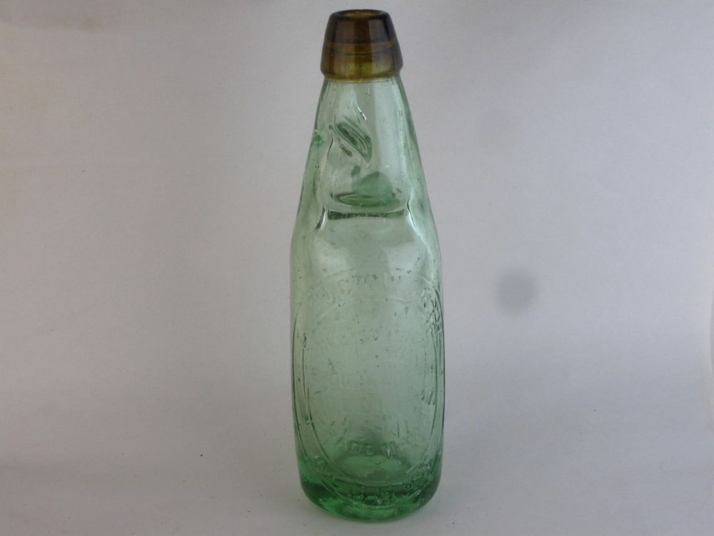 27862 Old Antique Glass Bottle Codd Patent 4 Duckworth Manchester