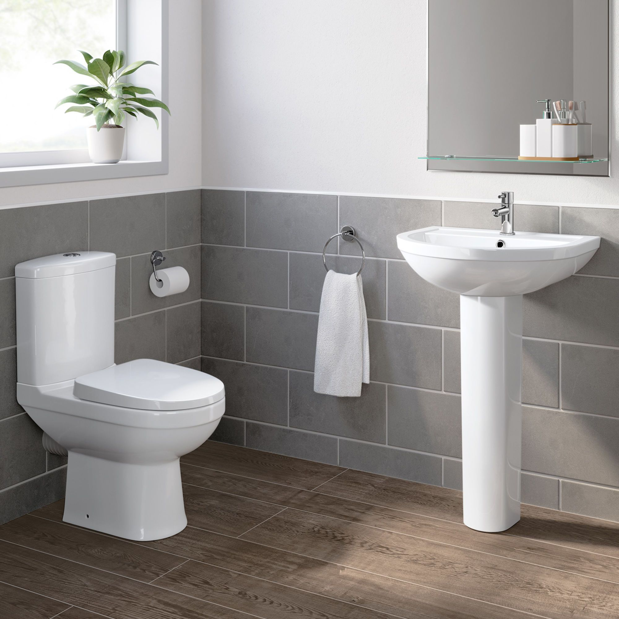 Sabrosa Ii Close Coupled Toilet Pedestal Basin Set Soak Com