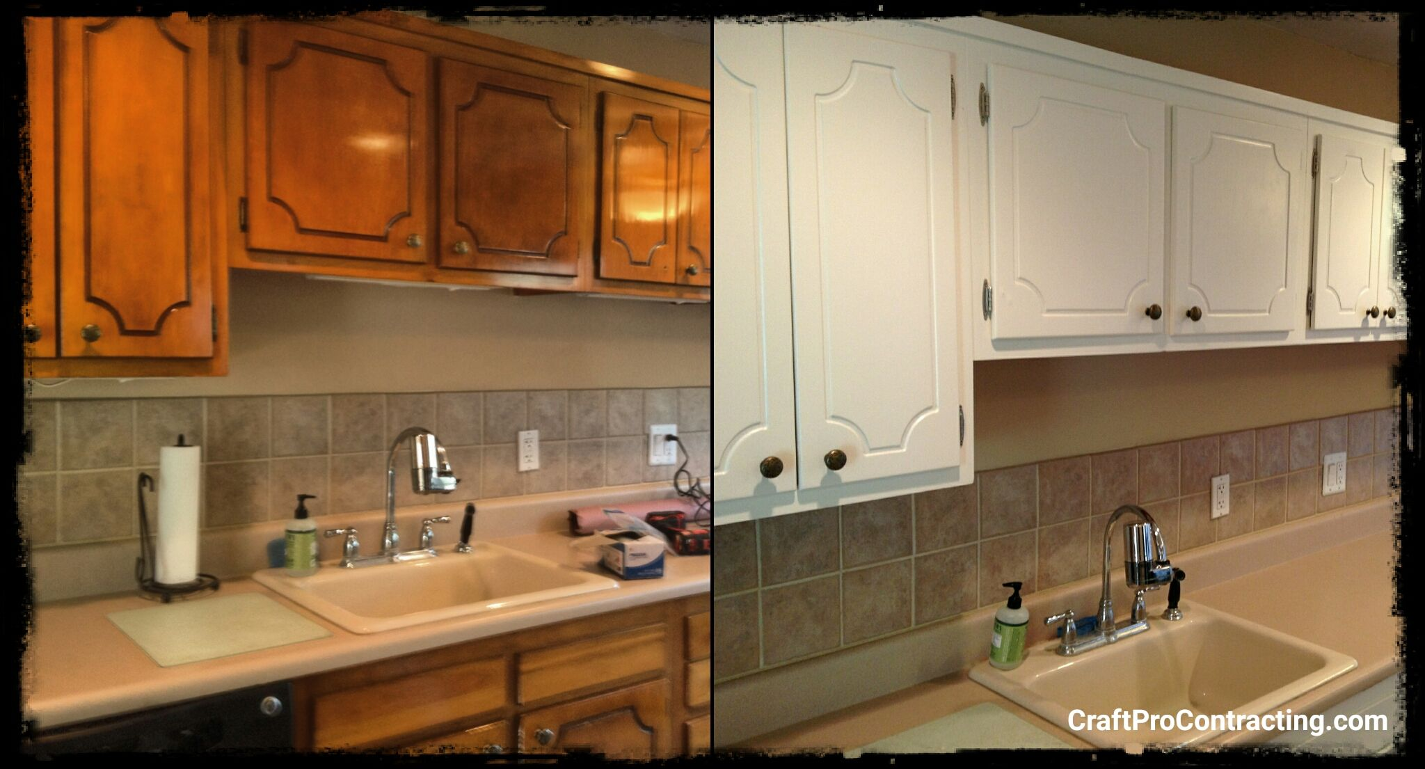Cabinet Refinishing Before After From Glazed Stained And Polyurethane Coated Cabinets To Pure W Refinishing Cabinets Interior Renovation Kitchen Renovation