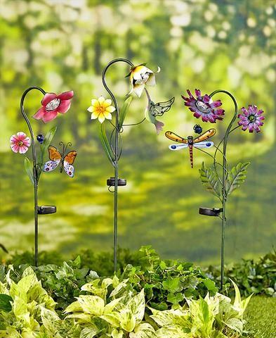 Solar Flower Garden Stake Light Yard Outdoor Lawn Decor ...