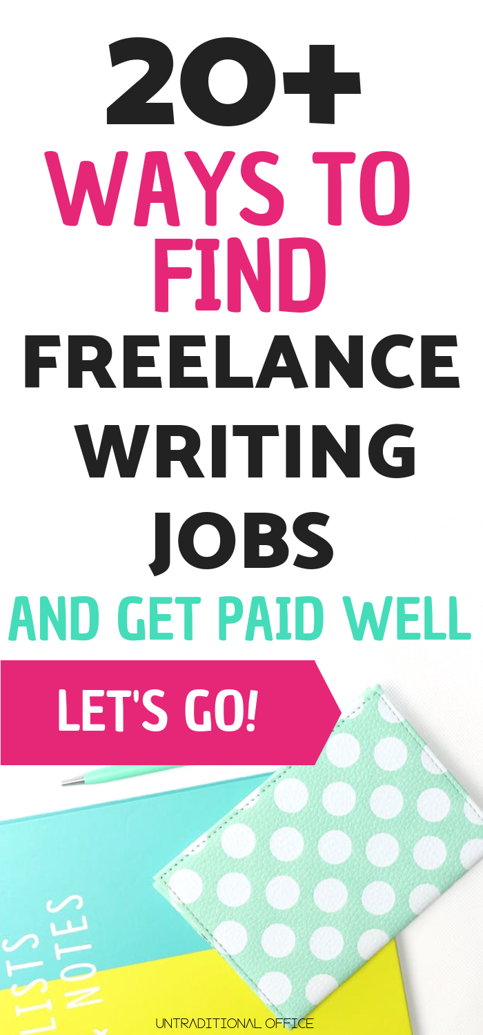 001 20+ great ways to find freelance writing jobs online for