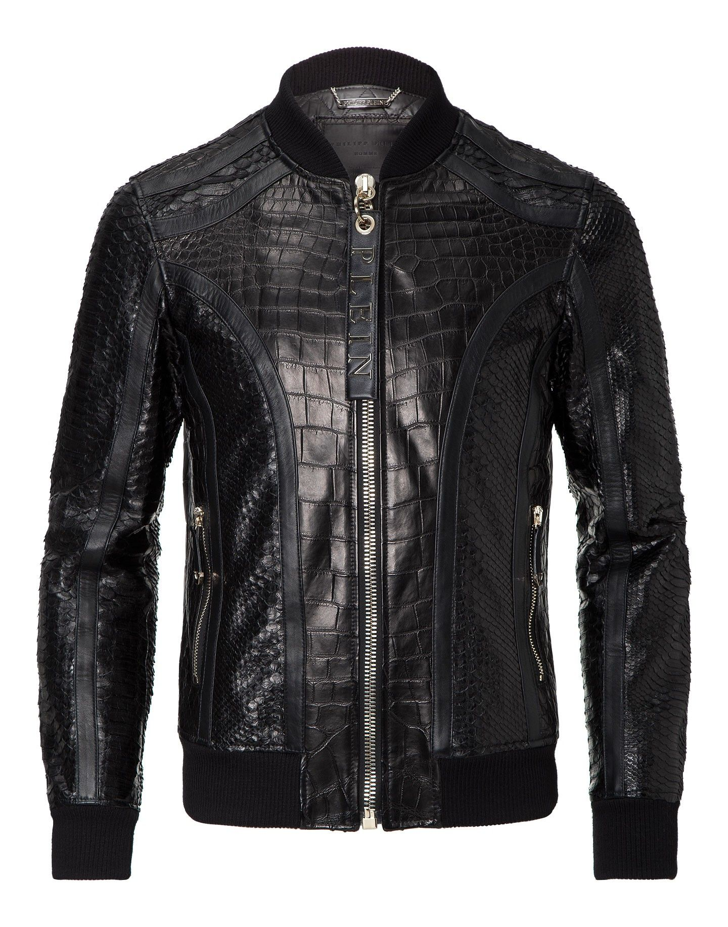 5f5933151c PHILIPP PLEIN LEATHER BOMBER