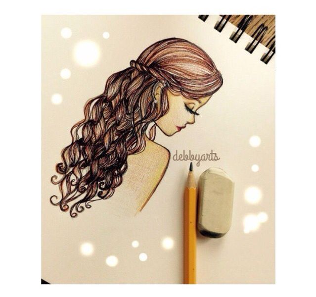 Debbyarts drawing of a brunette so prettyy drawings for Cose belle da disegnare