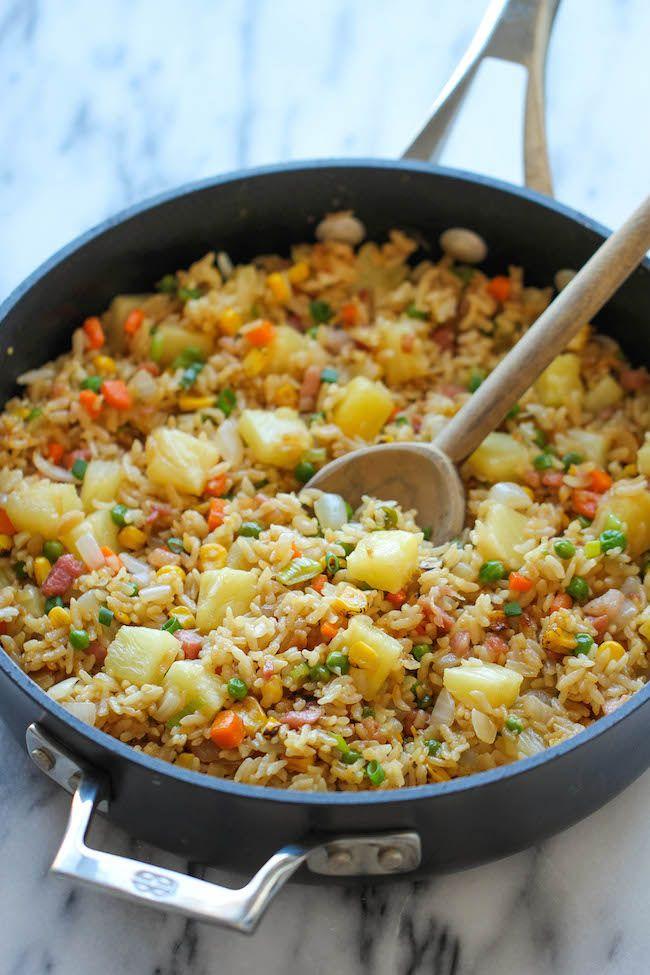 Pineapple fried rice receita salgadinhos comida saudvel e petiscos pineapple fried rice ccuart Choice Image