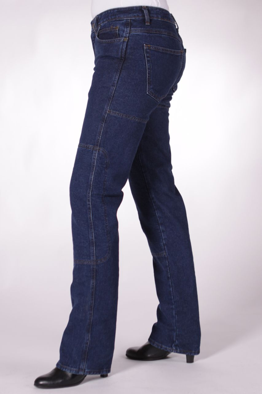 New Ladies Motorcycle Jeans Reinforced Dupont™KEVLAR® aramid fibres Blue or BLK