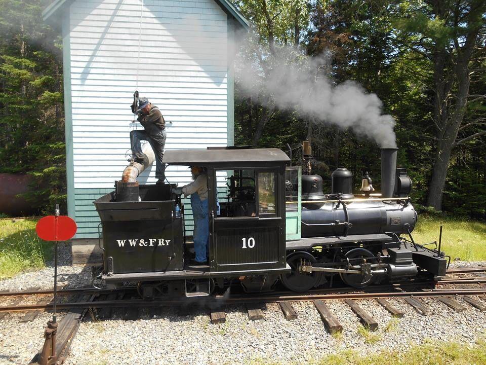 Wiscasset Waterville & Farmington R.R. Maine. Live steam