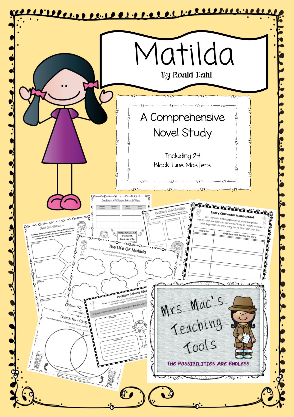 Matilda A Comprehensive Novel Study Including 24