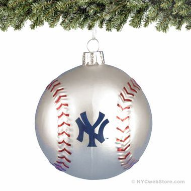 New York Yankees Glass Baseball Ornaments Start a Christmas tradition with  our NY Yankees baseball ornament. This beautiful molded glass ball is of  the ... - New York Yankees Glass Baseball Ornaments Start A Christmas