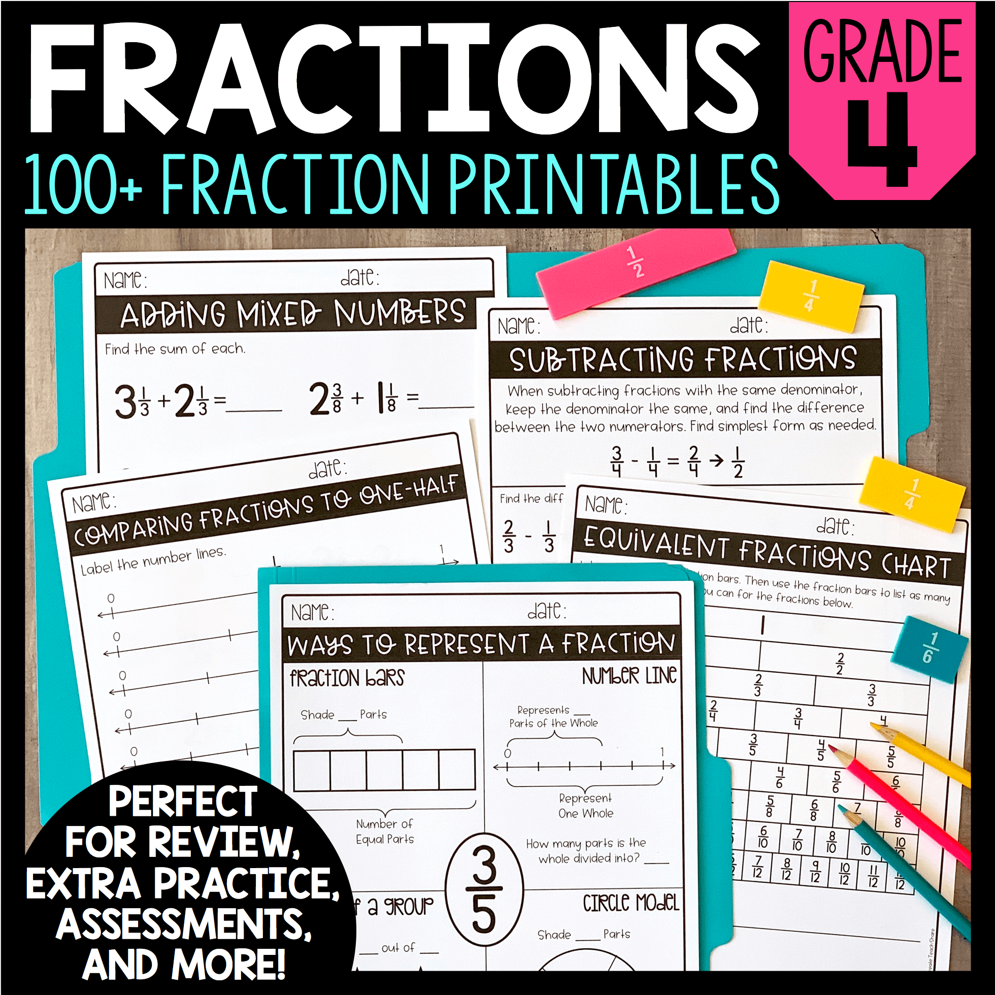 80 Fraction Printables With Images
