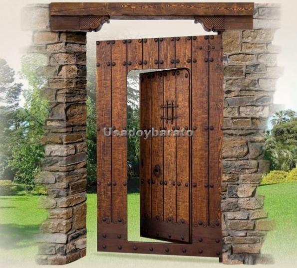 Puertas r sticas exterior buscar con google puertas - Manillas rusticas para puertas ...