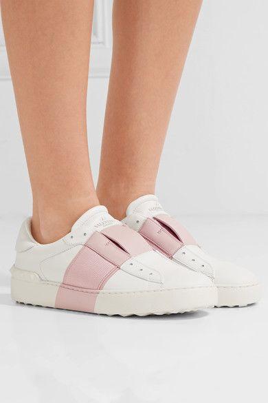 d931de023464 Valentino - Leather Slip-on Sneakers - White