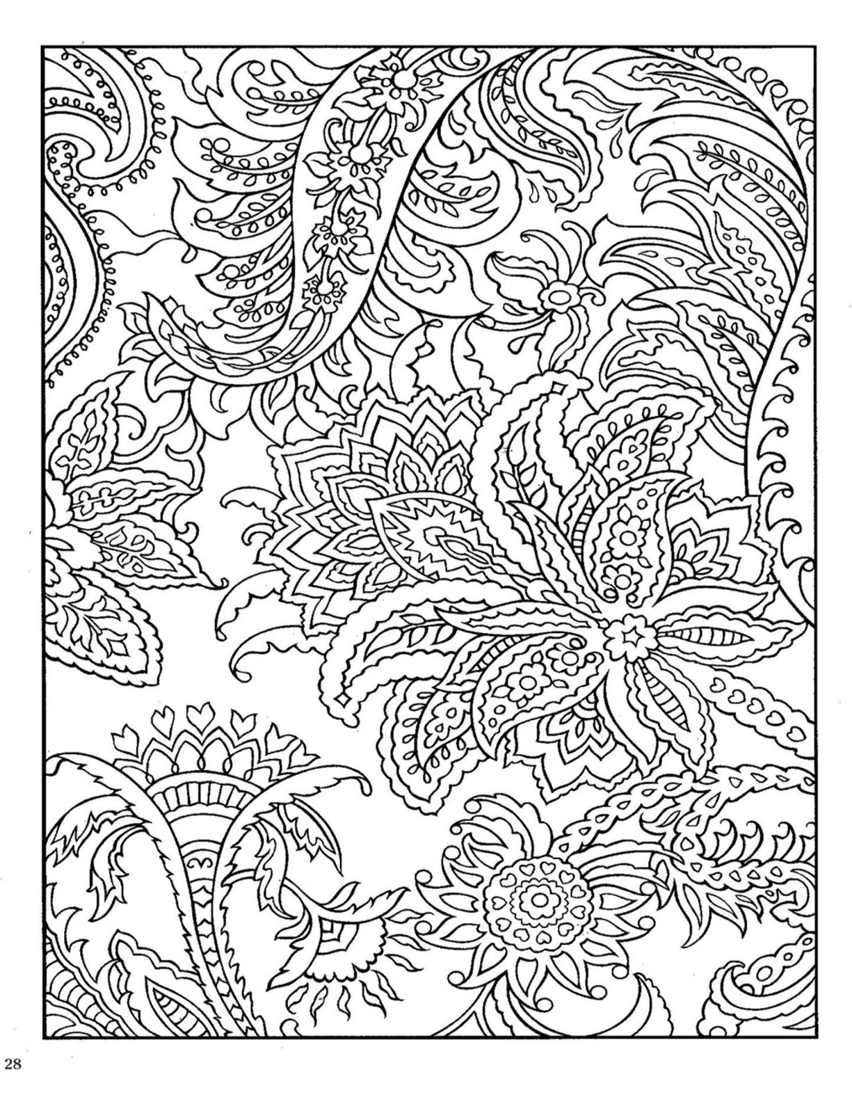 Paisley Coloring Pages