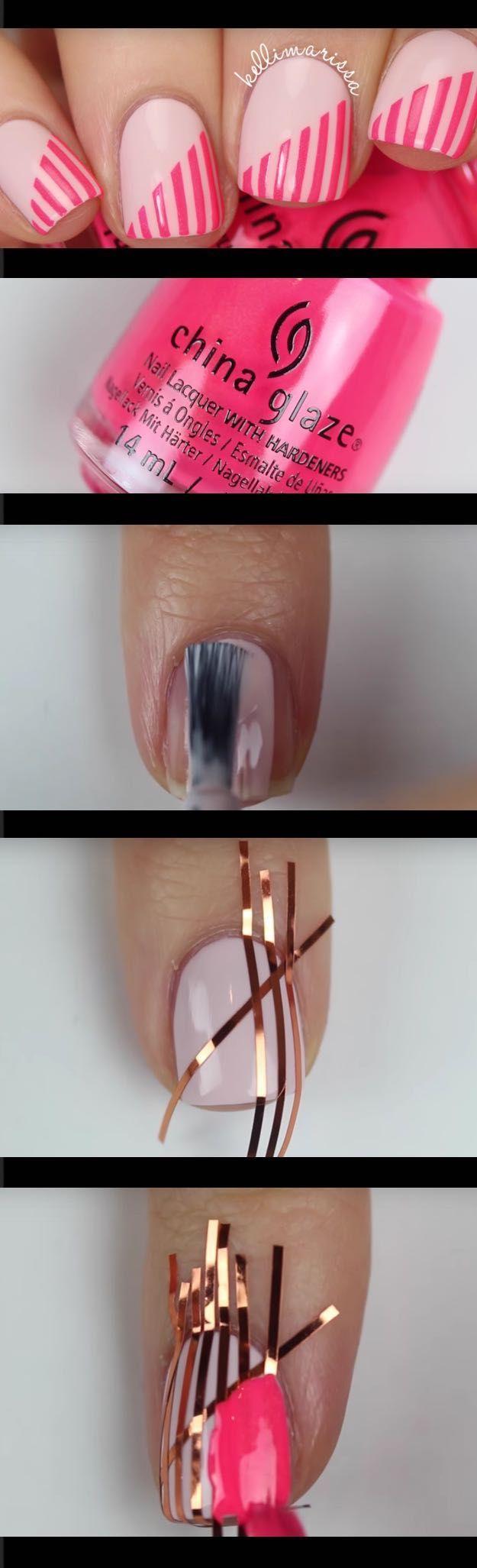 Super Easy Nail Art Ideas For Beginners Diy Beginner Striping Tape