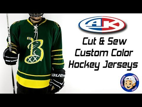 Custom Cut   Sew Hockey Jerseys are made in Canada and feature top quality  construction. Add lace up necks ce626962ef5