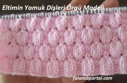 Eltimin Trapezoid Dents Knitting Model   – örgü modeli
